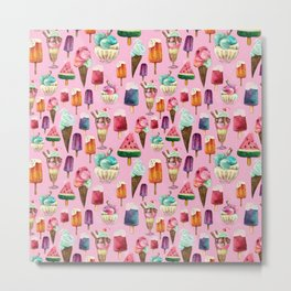 ice-cream pattern Metal Print