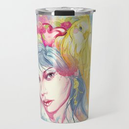 Parrot beauty going to a party Travel Mug