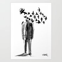 freedom Art Prints featuring freedom by LouiJoverArt