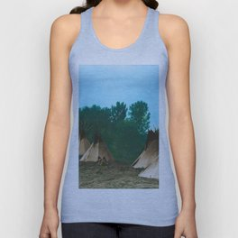 Assiniboine Camp - American Indian Tipis Unisex Tank Top
