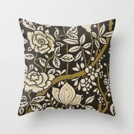 Nouveau Birds And Flowers Throw Pillow