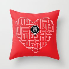 Finding Love Throw Pillow