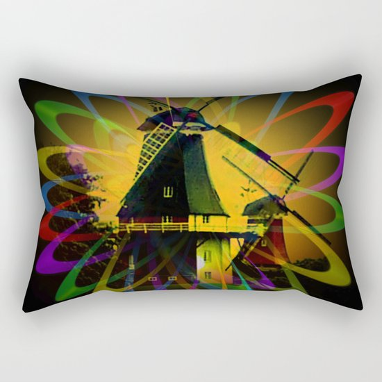 Windmills - Greetsiel Rectangular Pillow