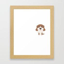 My Beagle Makes Me Happy Framed Art Print