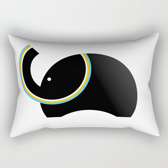 Retro Elephant Rectangular Pillow