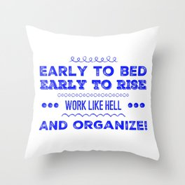 Work & Organize Throw Pillow