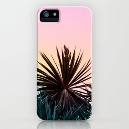 Sunset tropical palms iPhone Case