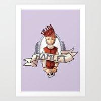 hamlet Art Prints featuring Hamlet by Michelle Dadoun