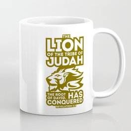 The Lion of the tribe of Judah, the Root of David, has triumphed. Coffee Mug