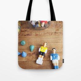 vintage toys - foosball Tote Bag