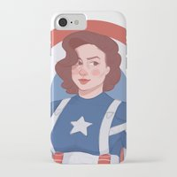 peggy carter iPhone & iPod Cases featuring Captain Peggy Carter by Charlotte Foley