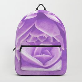 Purple Succulent Reflection Backpack