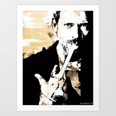 Hugh Laurie/Dr. Gregory House Art Print