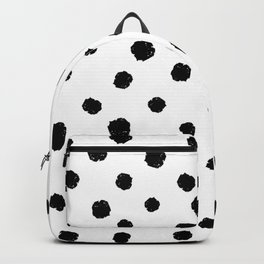 Hand-Drawn Dots (Black & White Pattern) Backpack