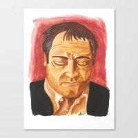 crowley Canvas Prints featuring Crowley by Heather Davies-Devoe