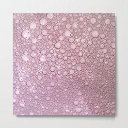 Rose pink abstract geometrical polka dots texture Metal Print