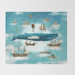 Ocean Meets Sky - revised Throw Blanket