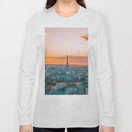 Sunset in Paris (Color) Long Sleeve T-shirt