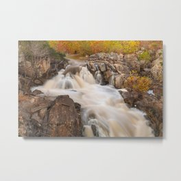Great Falls Autumn Cascades Metal Print
