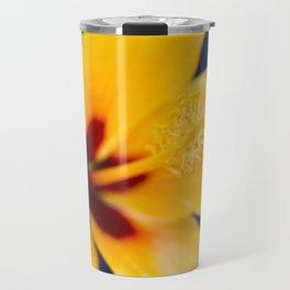 Hibiscus Lemon Drop Tropical Fancy Flowers Travel Mug