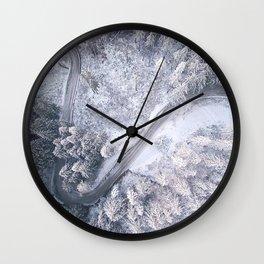 Aerial Curves Wall Clock