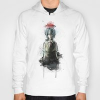 evangelion Hoodies featuring Ayanami Rei Evangelion Character Digital Painting by Barrett Biggers
