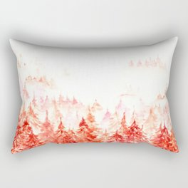 Pines Forest-abstract watercolor Rectangular Pillow