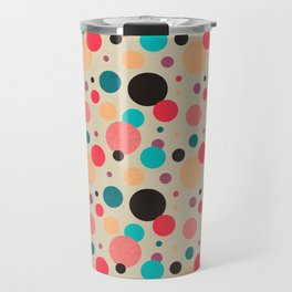 Multicolored Geometric Polka Dot Pattern Travel Mug