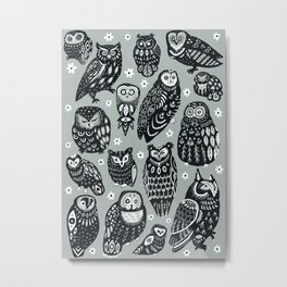 Flock of Owls Metal Print