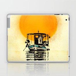 Sunset Boat Silhouette Laptop & iPad Skin
