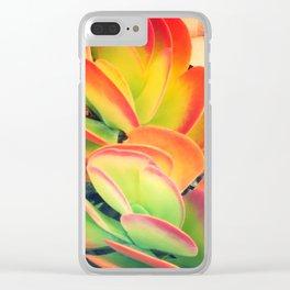 Surfers Succulent Clear iPhone Case