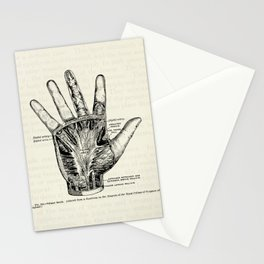 Vintage Anatomy Illustration of the Palm of the Hand Stationery Cards
