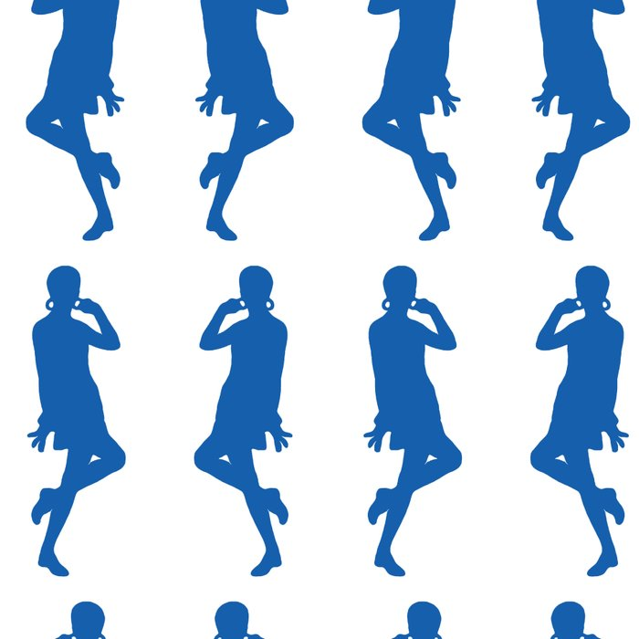 Denim Blue Bold Mod GoGo Girls Leggings