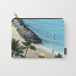 Waikiki Beach Fun, Hawaiian Tropical Paradise, square Carry-All Pouch