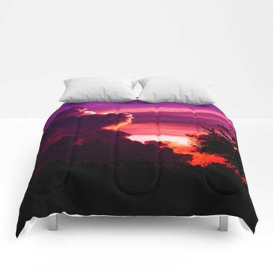Blazing Sunset Comforters