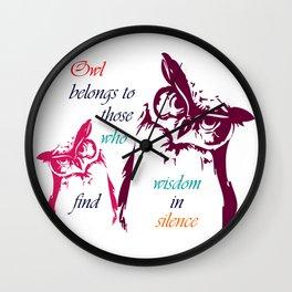 Owl Belongs To Wall Clock