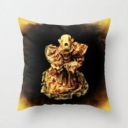 Horror In a Dress! Skull Doll Halloween Part 3 Throw Pillow