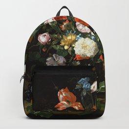 Still Life with Flowers Rachel Ruysch Backpack