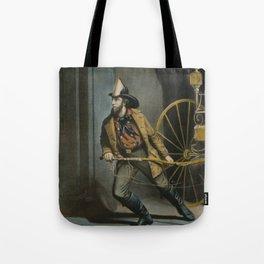 Historical American Firefighter Illustration (1858) Tote Bag