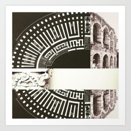Architecture of Impossible_Ancient Rome Art Print