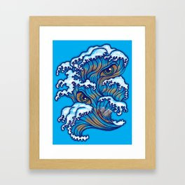 Spirit of the waves Framed Art Print