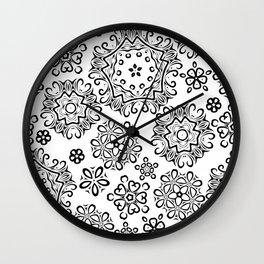 Black pattern Wall Clock