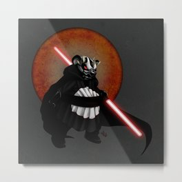 The Panda Menace Metal Print