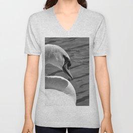 Sunning Swan by Teresa Thompson Unisex V-Neck