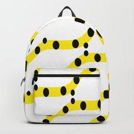 Yellow organic shapes Backpack