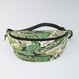 Painted White Lilies Fanny Pack