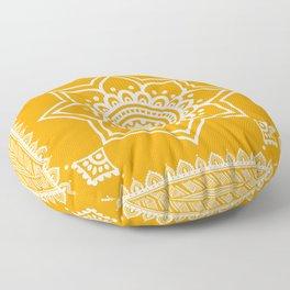 Ethnic Saffron Floor Pillow