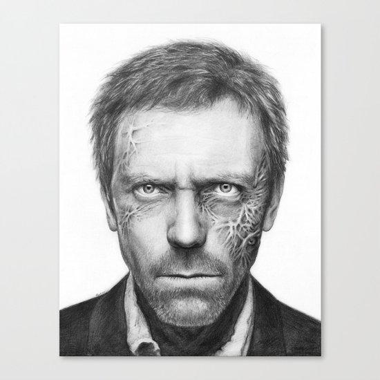 House MD Zombie Portrait Hugh Laurie Canvas Print