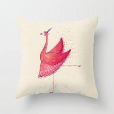 Flamingo Can Can  Throw Pillow