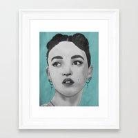 fka twigs Framed Art Prints featuring FKA Twigs by Char Stefanski